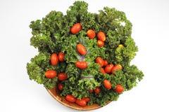 Chou frisé rouge, tomates-cerises Images stock