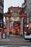 Chouan-mon, Nanking Machi (Kobe Chinatown), Japan. The main entrance of, Chouan-mon, Nanking Machi (Kobe Chinatown), Japan Royalty Free Stock Images
