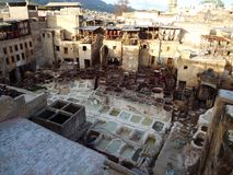 Chouara Tannery, Fes, Morocco Royalty Free Stock Photography