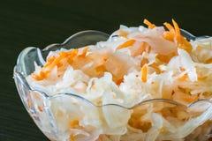 Choucroute dans une cuvette Photographie stock libre de droits