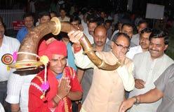 Chouhan, κύριος υπουργός Shivraj singh στοκ εικόνα με δικαίωμα ελεύθερης χρήσης