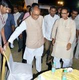 Chouhan, κύριος υπουργός Shivraj singh Madhya pradesh και digvijaya singh στοκ φωτογραφία