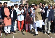 Chouhan, κύριος υπουργός Shivraj singh Madhya pradesh στοκ εικόνες