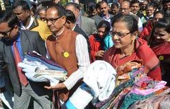 Chouhan, κύριος υπουργός Shivraj singh Madhya pradesh στοκ εικόνα με δικαίωμα ελεύθερης χρήσης