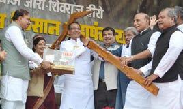 Chouhan, κύριος υπουργός Shivraj singh Madhya pradesh στοκ φωτογραφία