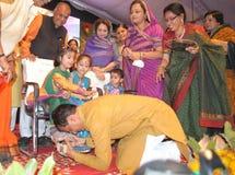 Chouhan, κύριος υπουργός Shivraj singh Madhya pradesh στοκ εικόνα