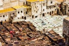 Chouwara tannery in Fez Stock Photography