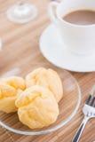 Choux ciasto i kawa Obraz Royalty Free