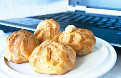 Choux cream Royalty Free Stock Images