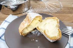 Choux cream Stock Photos