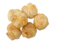 Choux cream in white. Choux cream isolated in white background Royalty Free Stock Photography