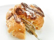 choux cream wypełniającego ciasto zdjęcia stock