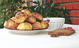 Choux a la creme 17. Homemade unfilled choux pastry ball Royalty Free Stock Image