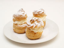Choux pastry buns, filled Royalty Free Stock Photo