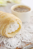 Choux pastry with cream Royalty Free Stock Image