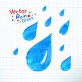 Chova gotas ilustração do vetor