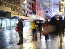 Chuva na cidade Manhattan Fotos de Stock
