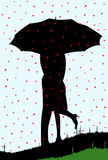 Chovendo corações Fotografia de Stock