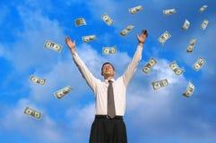 Chovendo dólares Fotografia de Stock