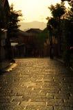 Chovendo em Kyoto, Japão Fotografia de Stock