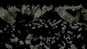 Chovendo o dinheiro video estoque