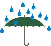 Chover e guarda-chuva Imagem de Stock