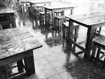 Chover feito nos sentir azuis Fotos de Stock