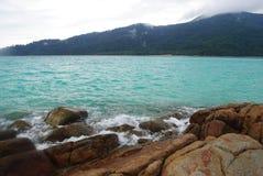Chover na praia Fotografia de Stock Royalty Free