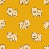 Chow Chow σχέδιο άνευ ραφής Σκυλί για την Κίνα Διανυσματικό υπόβαθρο της Pet διανυσματική απεικόνιση