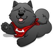 Chow chow cute cartoon dog. Vector illustration. Stock Image