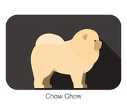 Chow Chow dog breed flat icon design Stock Image