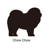 Chow Chow dog silhouette, side view, vector Royalty Free Stock Image