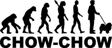 Chow-chow evolution word. Chow-chow evolution with dog name Royalty Free Stock Photography
