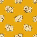 Chow Chow deseniowy bezszwowy Pies dla Chiny Zwierzę domowe wektoru tło ilustracja wektor