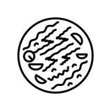 Chow mein ikony wektor odizolowywający na białym tle, Chow mein znak ilustracja wektor