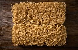 Chow mein noodles asian pasta macro. Texture Stock Images