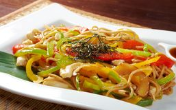 Chow mein noodles Stock Photos