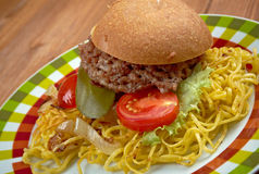 Chow mein sandwich Royalty Free Stock Images