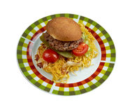 Chow mein sandwich Royalty Free Stock Photography