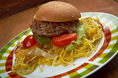 Chow mein sandwich Royalty Free Stock Image