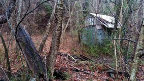 Chowana buda w lesie zdjęcia royalty free