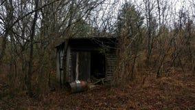 Chowana buda w lesie obraz stock