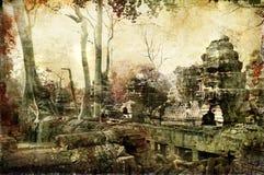 Chowane świątynie royalty ilustracja
