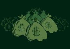 Chowane pieniądze torby Fotografia Royalty Free