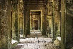 Chowany droga przemian Angkor Wat fotografia stock