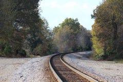 Chowany pociągu ślad Fotografia Stock