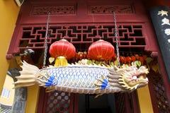 Chowany Szanghaj: chabeta Buddha świątynia, prawdziwy duchowy miejsce Obrazy Royalty Free