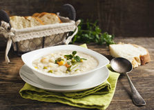Chowder με το ρύζι και τα λαχανικά Στοκ Εικόνα