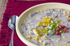 Chowder de maíz del pollo imagen de archivo libre de regalías
