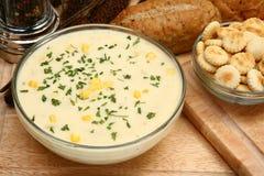 Chowder de milho Imagens de Stock